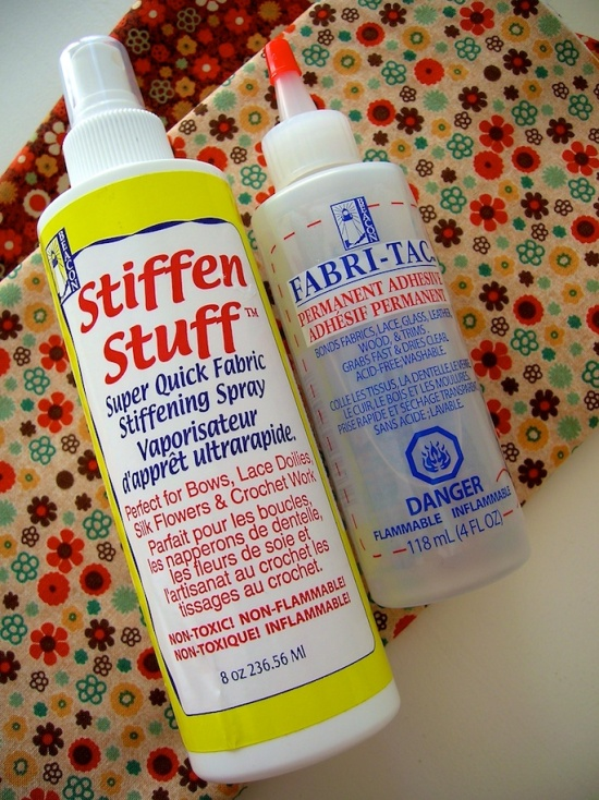 fabric stiffener and fabric glue