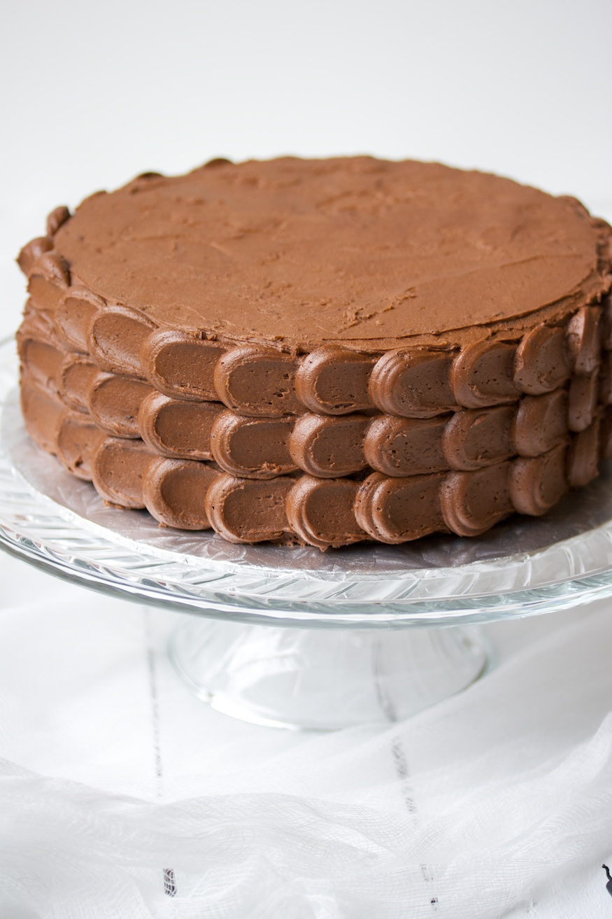 chocolate cake with chocolate buttercream frosting ...